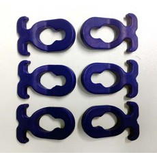 Peggy Peg - Standard Blue Rope Clips (Pack of 6)